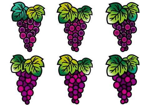 葡萄彩色玻璃