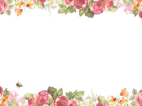 Flower frame 212 - Decorative frame of dark subtle tint