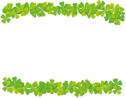 Clover decorative frame