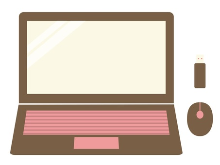 Personal computer illustration
