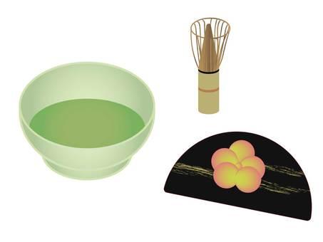 Matcha Japanese sweets