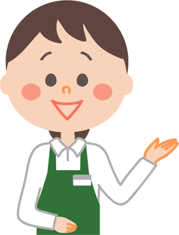 Guide for female employees wearing aprons