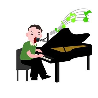 Playing the piano (male)