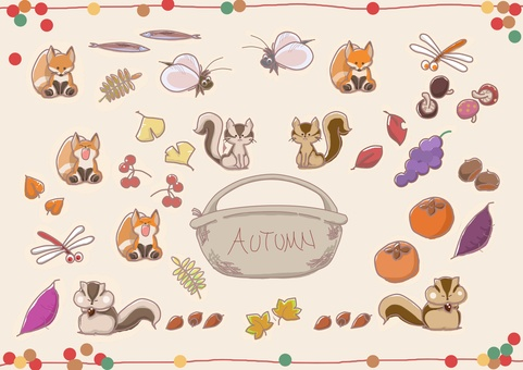 Fall animals and fruits