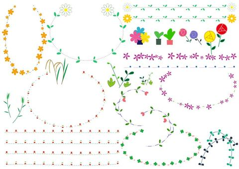 Flower grass ivy decoration pattern