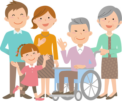70914. Wheelchair, family