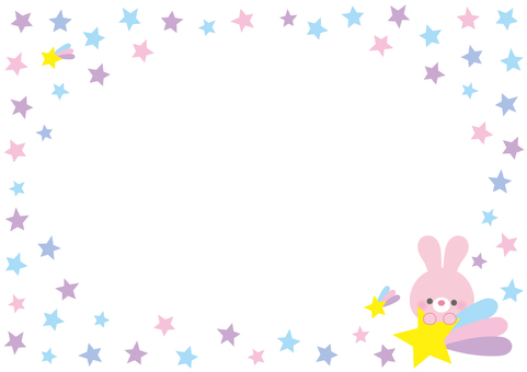 Colorful star frame rabbits