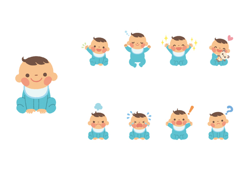 Baby boy in various poses