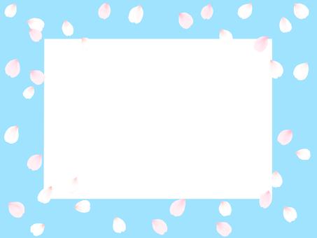櫻花花瓣框架