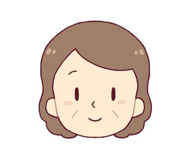 面部表情 - 微笑(中年女性)
