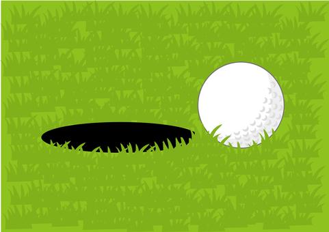 高爾夫球和洞