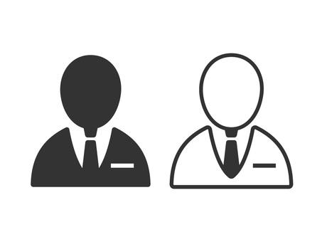 Businessman icon 01