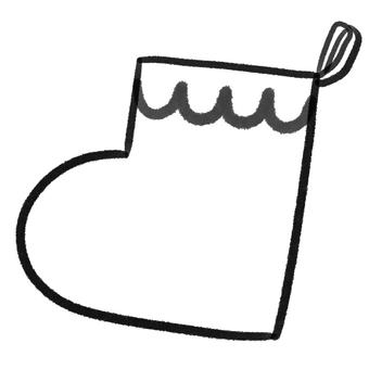 Christmas socks drawing