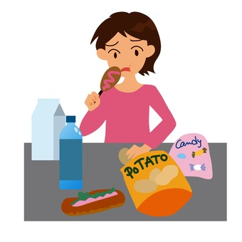 一個女人吃