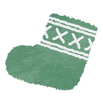 Watercolor style, socks