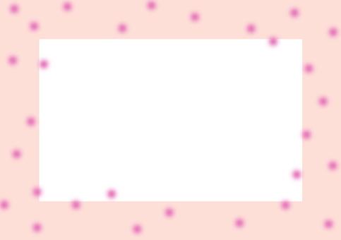 20% transparent frame pink dot