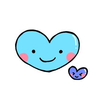 Cute heart illustration