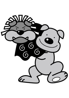 Dog Lion dancing 2c