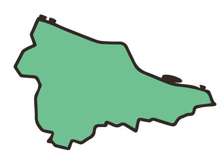 Tama Ward (Kawasaki City, Kanagawa Prefecture) simple map