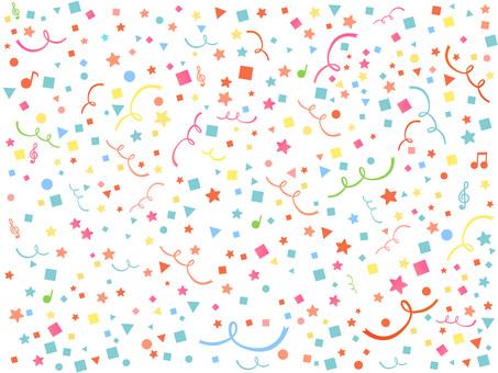 귀여운 팝 색종이 리본 음표 기하학