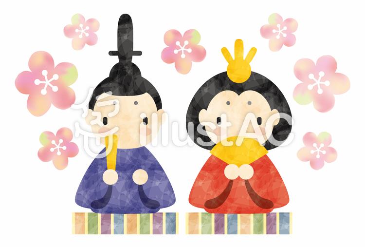 ひな祭り/親王飾りのイラスト