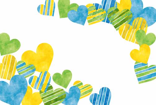 Heart / blue series