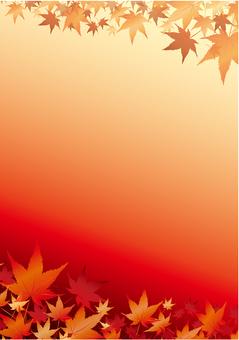 Autumn leaves vertical frame
