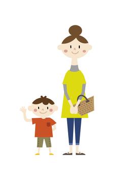 Mama and a boy