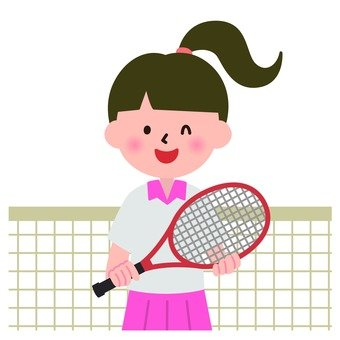 Tennis and a girl