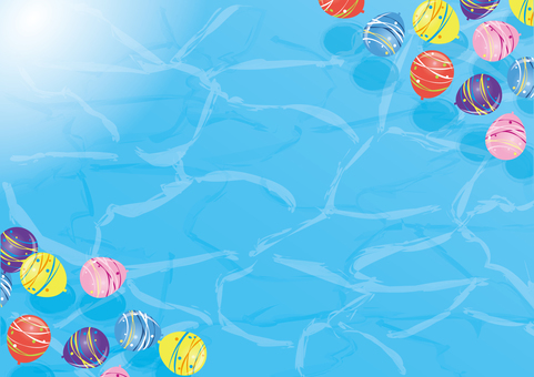 Water balloon background material