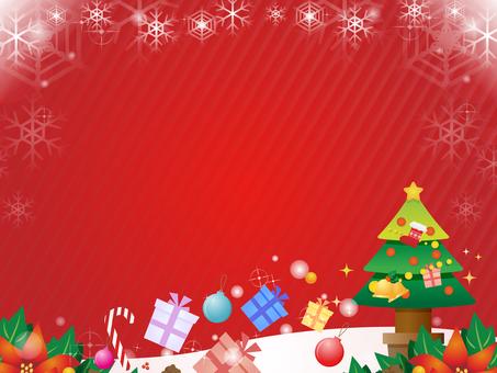 Christmas motif decorative frame
