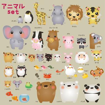 Animal large set set