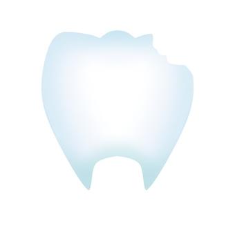 빠진 치아 (윤곽선 없음)