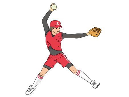 垒球(投手)1