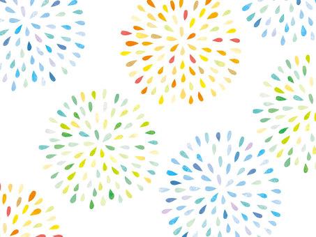 Fireworks handwriting Wallpaper Yukata pattern 01
