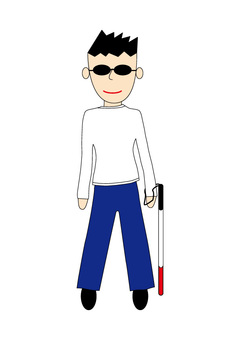 Illustration of a visually impaired person