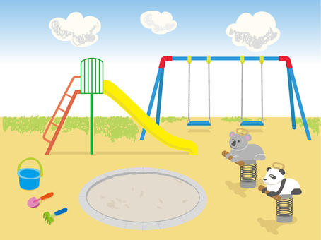 Illustration of park and play equipment