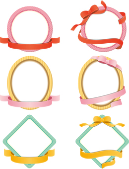 6 frames of ribbon decorations