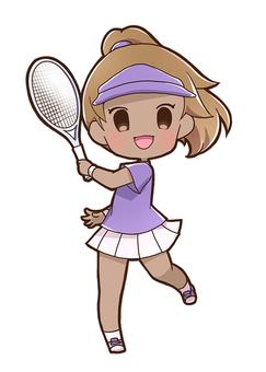女子テニスプレイヤー03_B