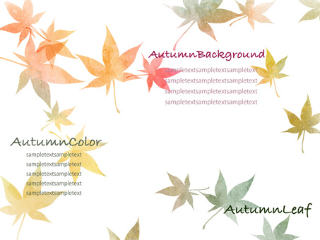 Autumn color background set ver 02