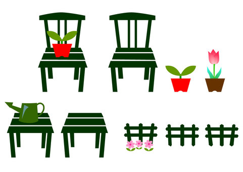 Garden chair and gardening