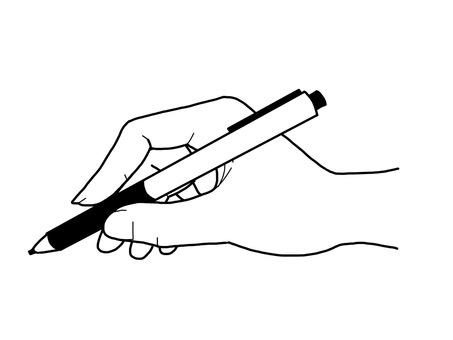 拿著筆的手