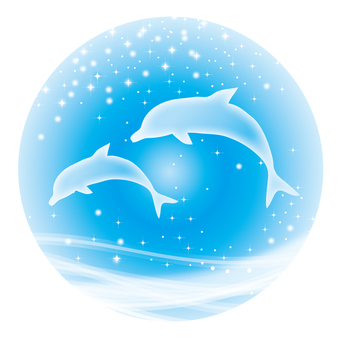 Parent and child of dolphin (circle)