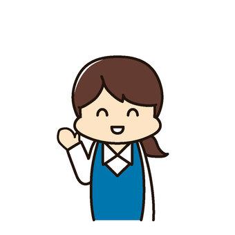 Female employee guidance