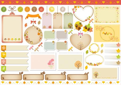 Fall image material 120