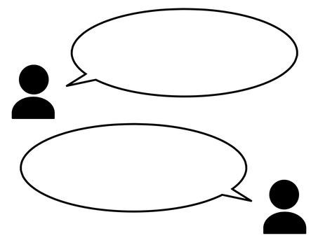 Simple conversation illustration