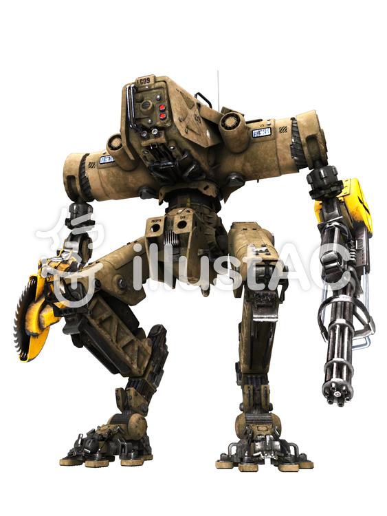 大型戦術用ロボットのイラスト