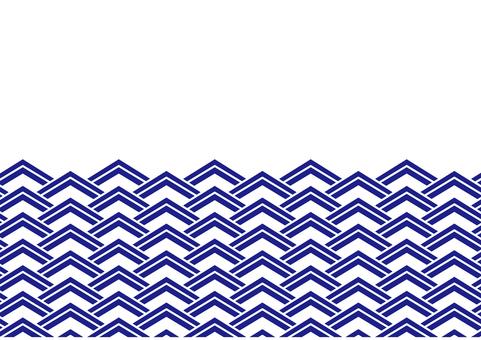 Wave pattern _ Square_ Navy
