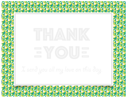 thank you card 黄色