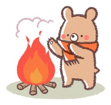 Bonfire bear